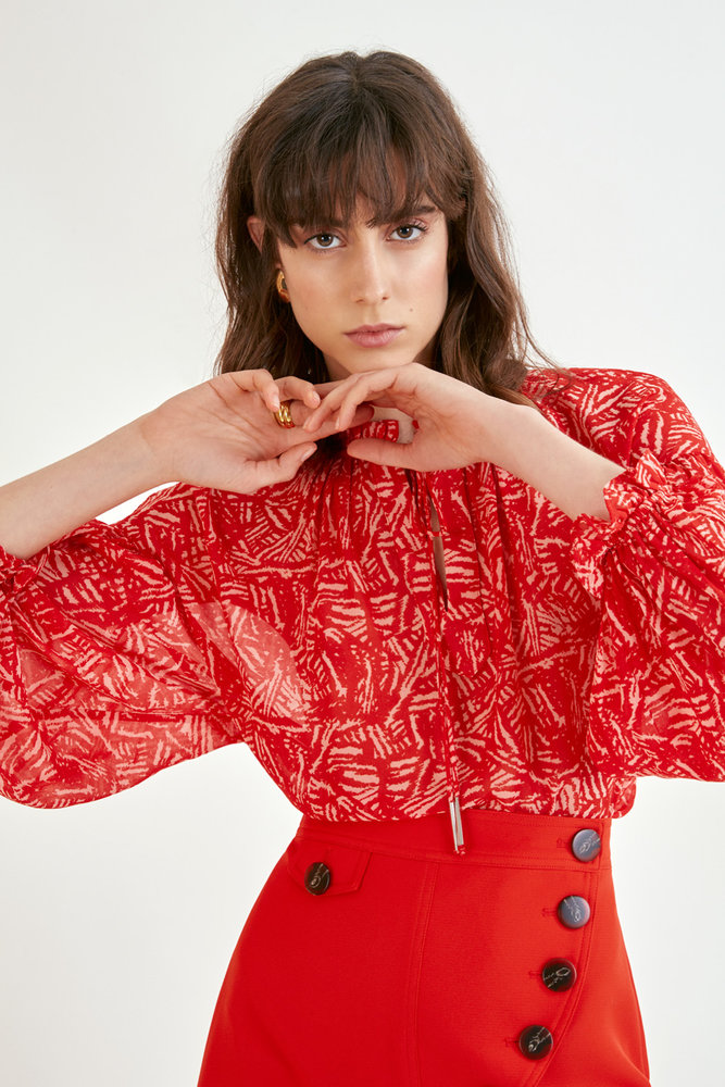 Red Patterned Shirt Lifestyle