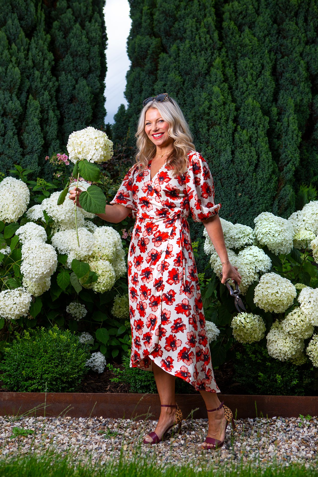 Alice Red Floral Dress 2
