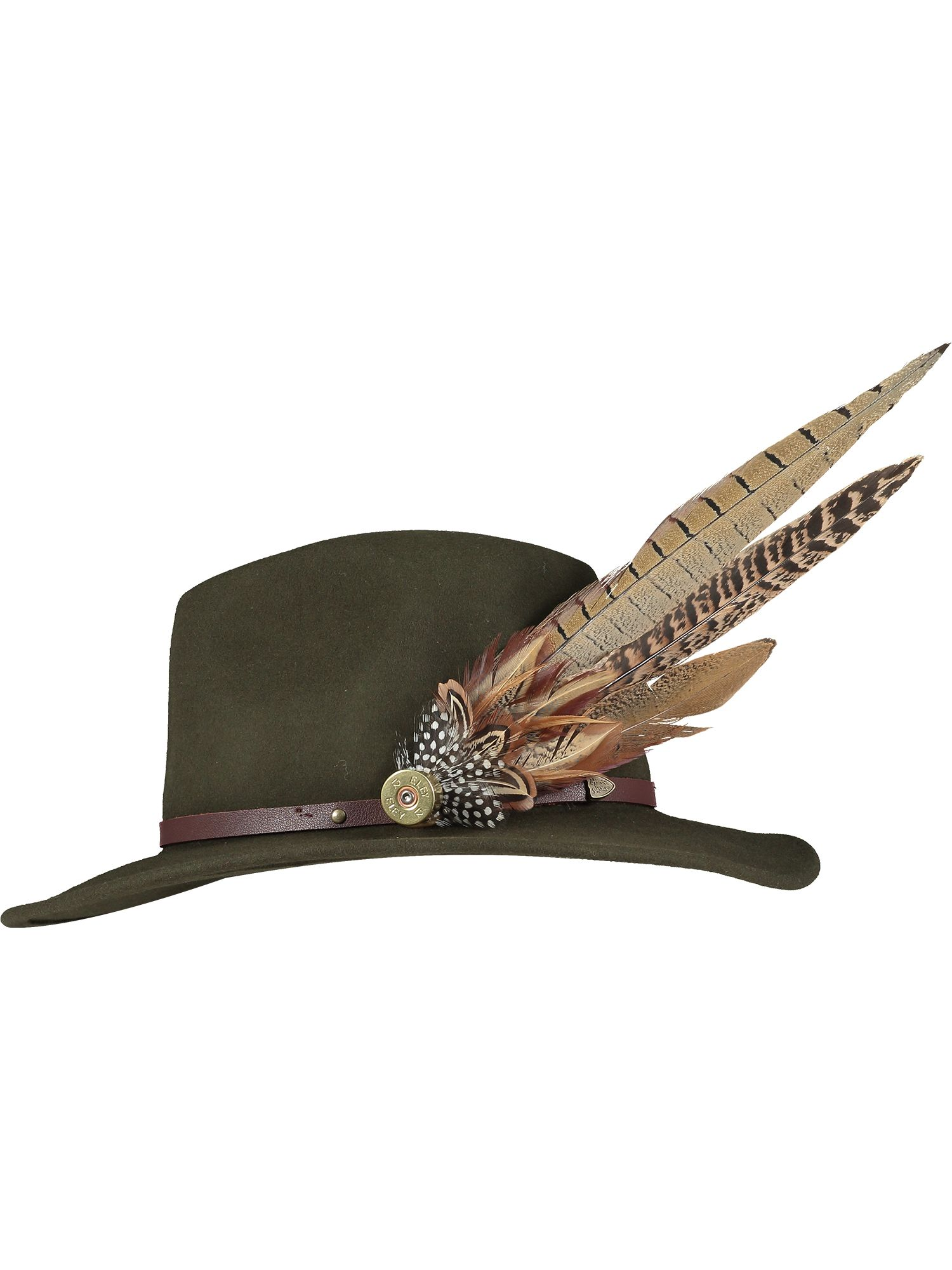 Large Natural Feather Pin and Hat