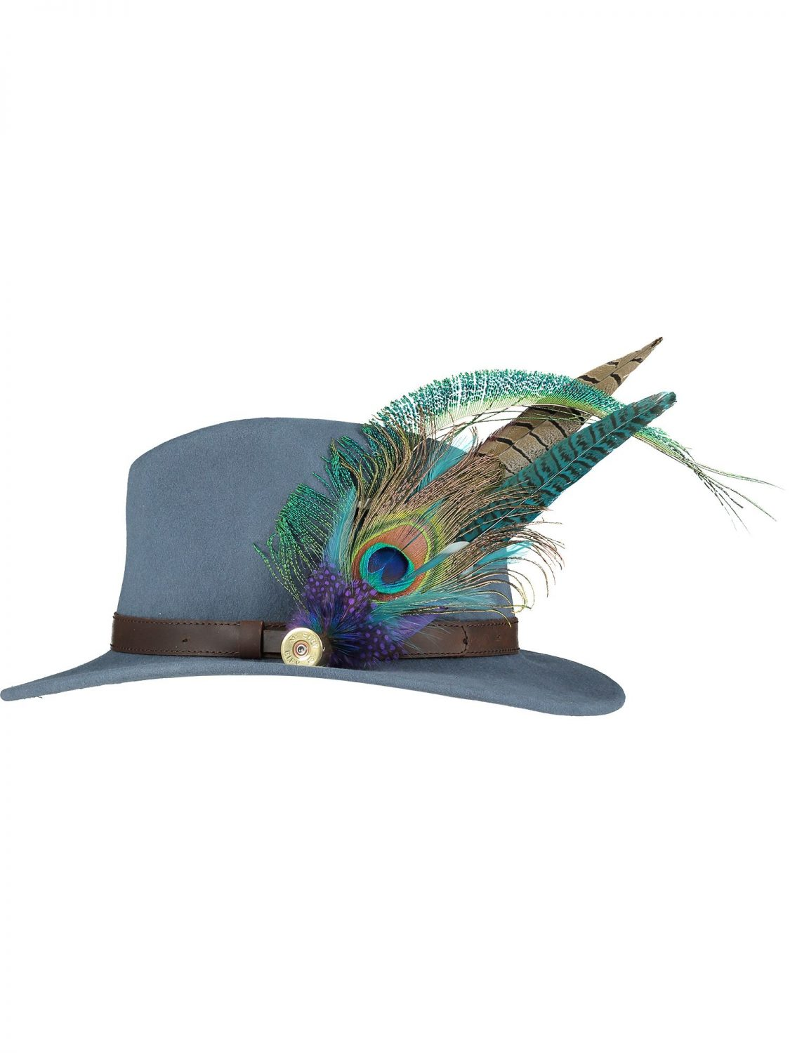 Large Peacock Feather Pin and Hat 1