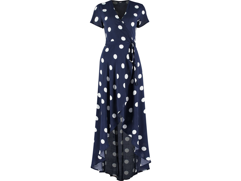 Navy Spot Wrap Dress