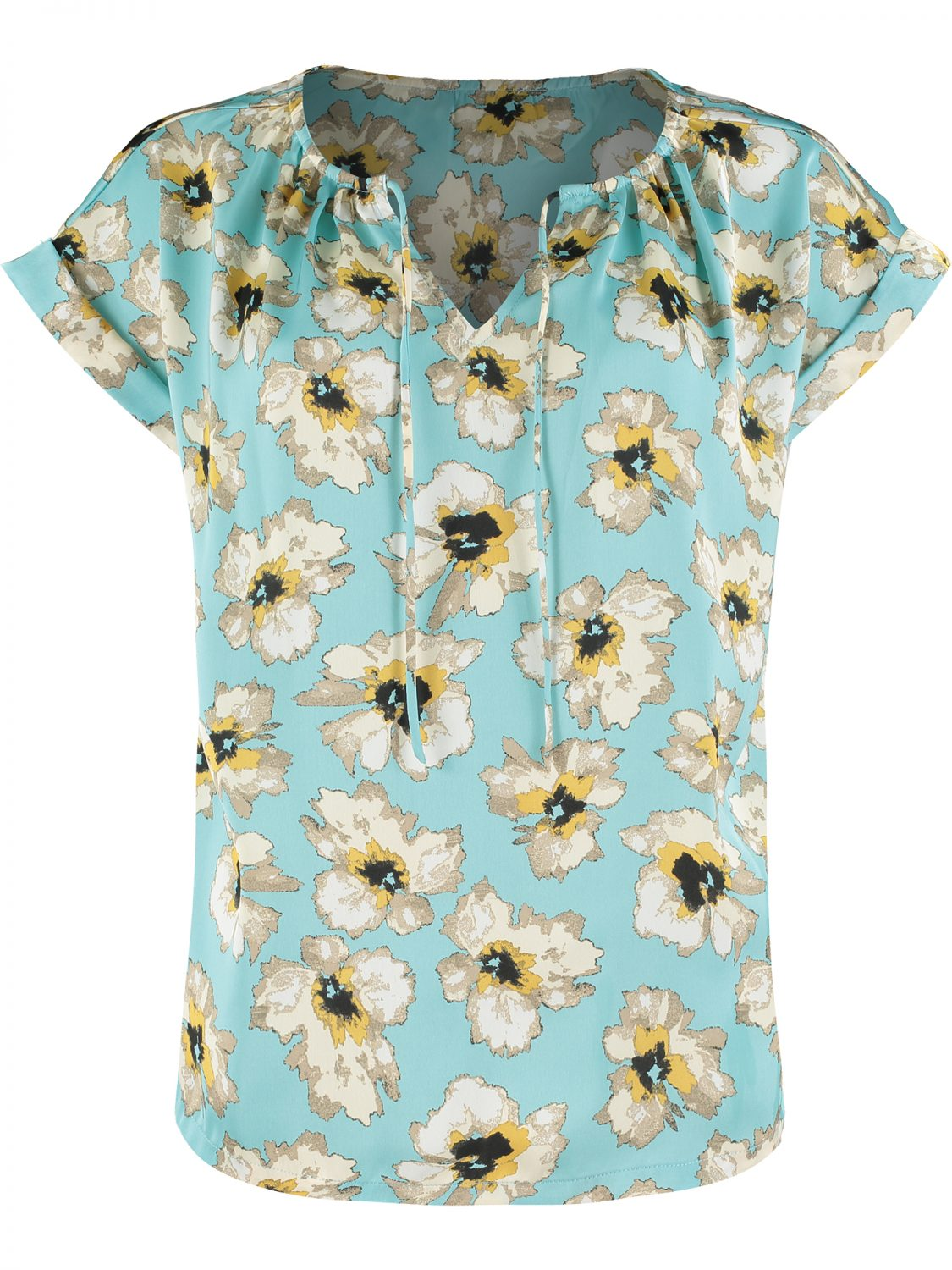 Turquoise Floral Top F