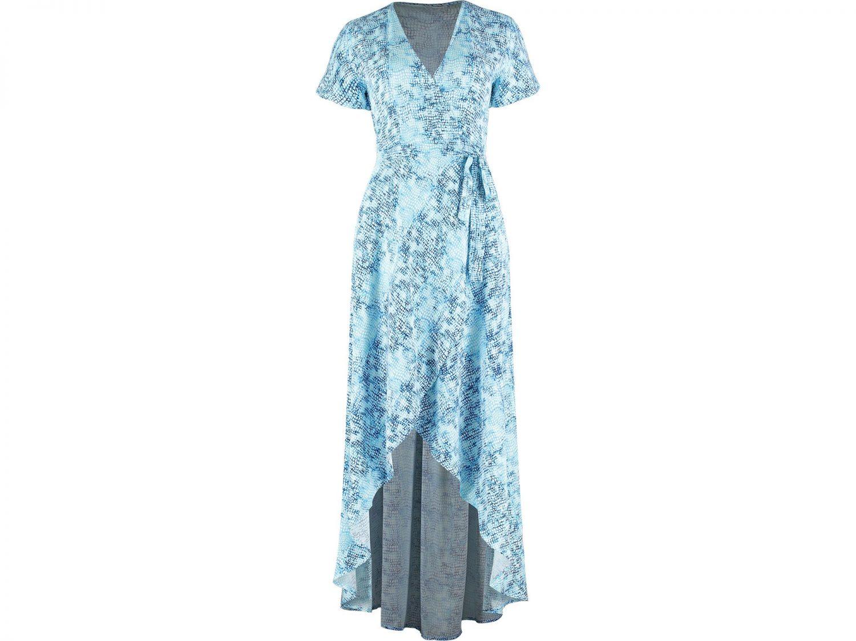 Water Blue Wrap Dress