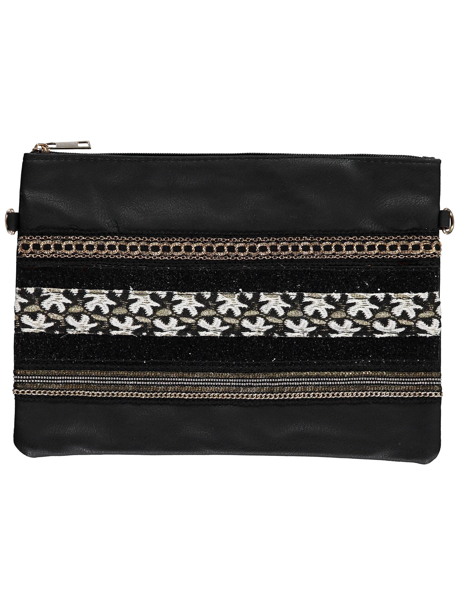 Black Embellished Clutch x