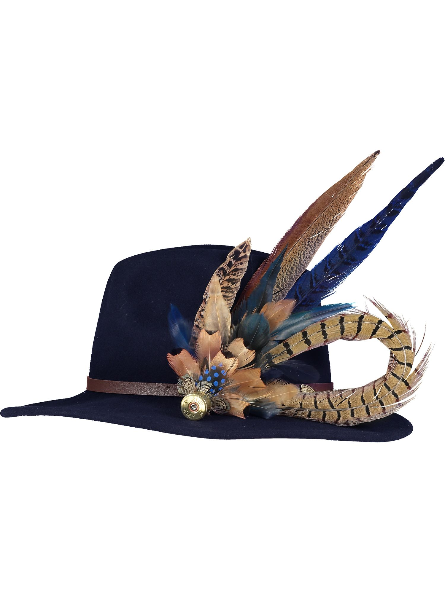 Deluxe Navy Feather Pin and Hat 1