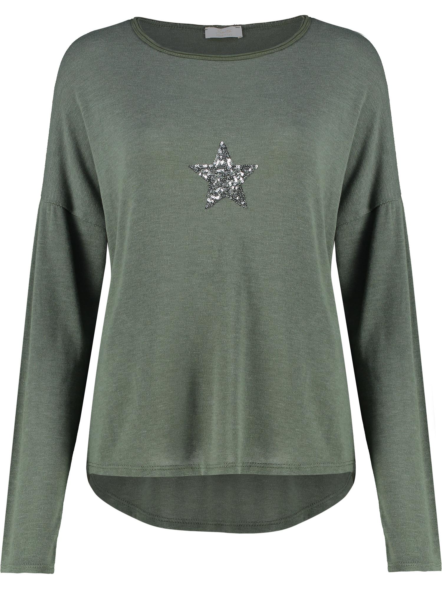 Khaki Long Sleeve T with Star