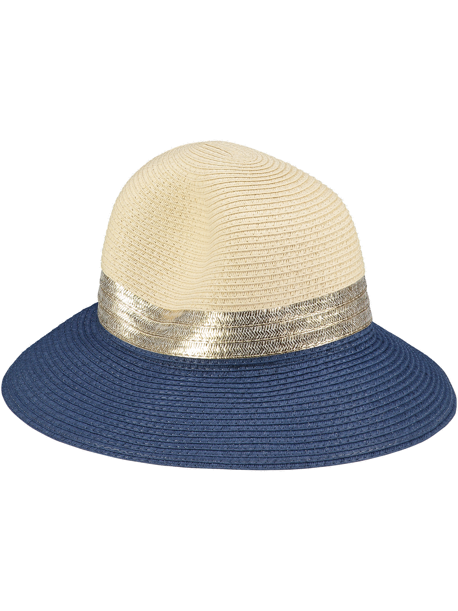 Natural Sun Hat Blue & Gold 1