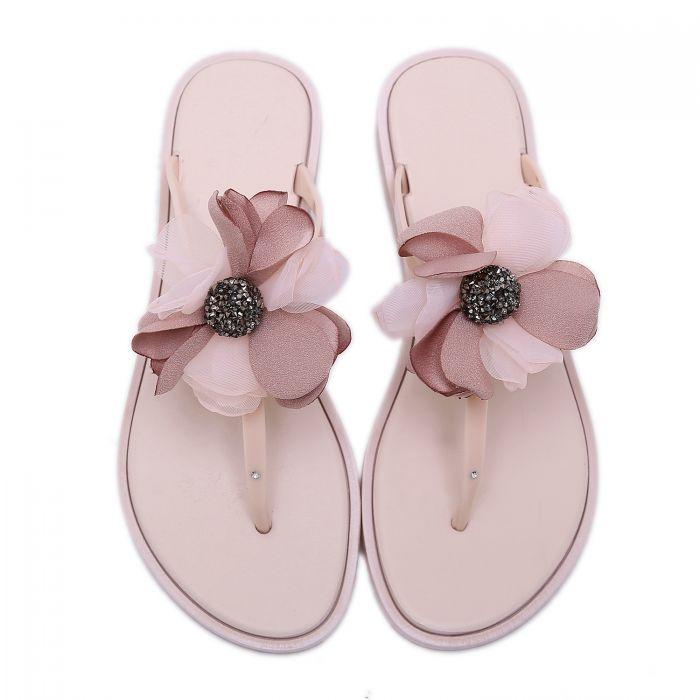 Pink Silk Sandals