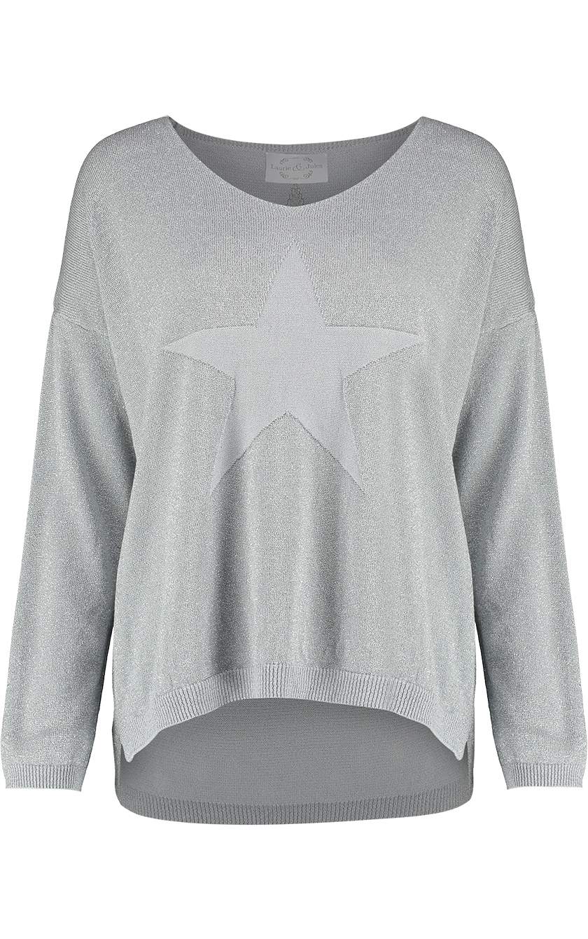 Star Sweater Grey Front 1