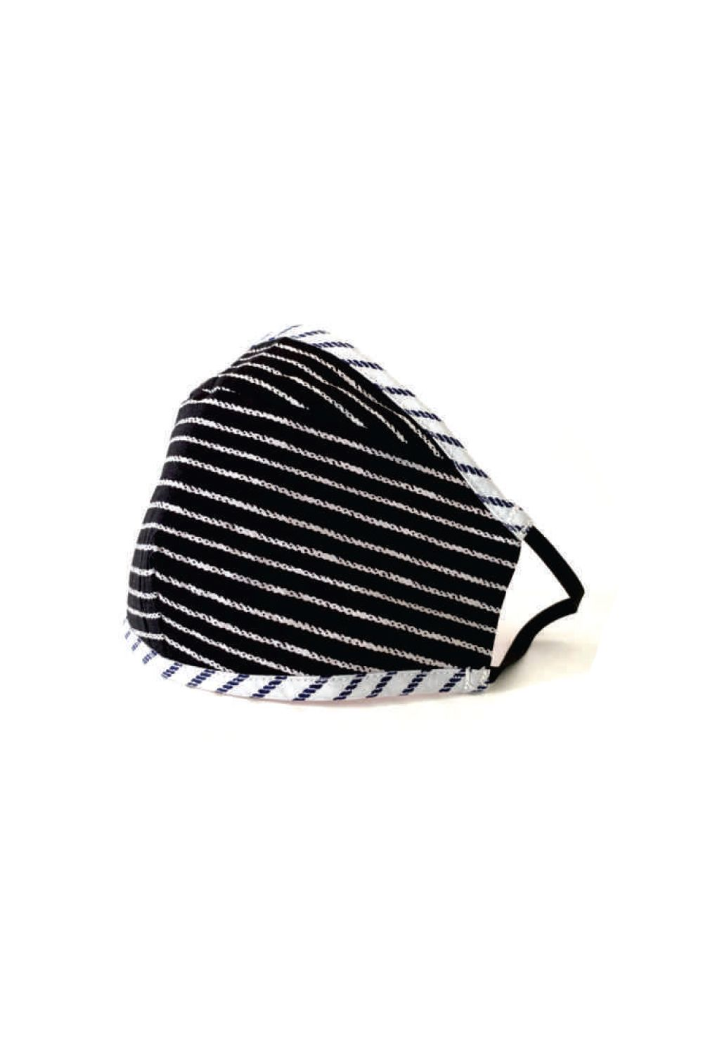 facemask black and white stripe