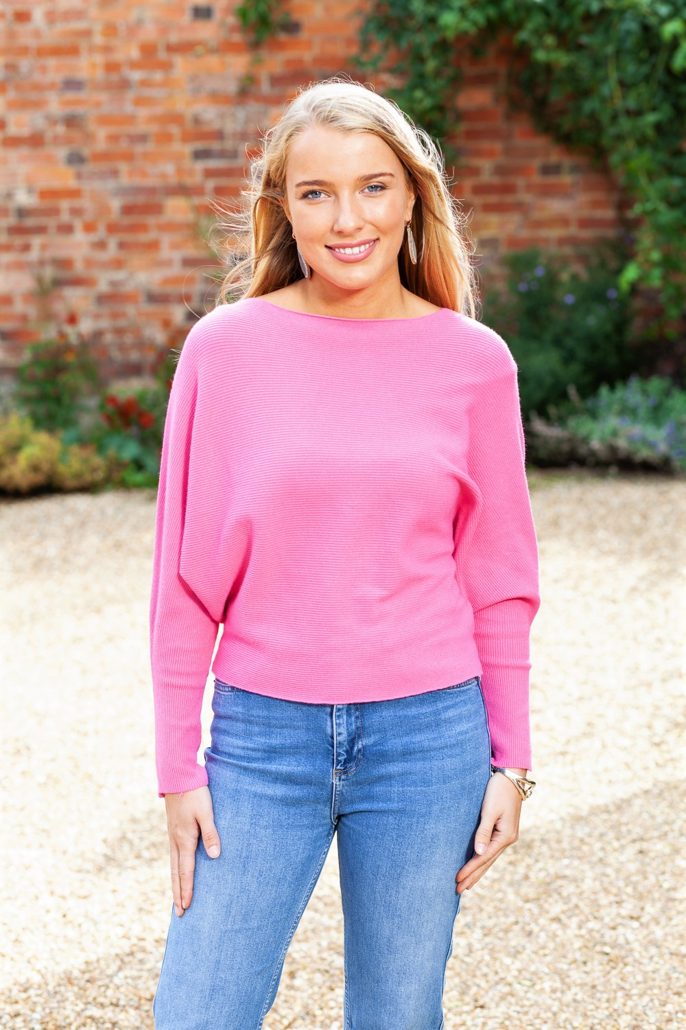Lily Pink Ribbed Top 2 (2)