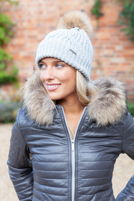 INTI ALPACA Alpaca Hat for Women in Gray Alpaca Wool