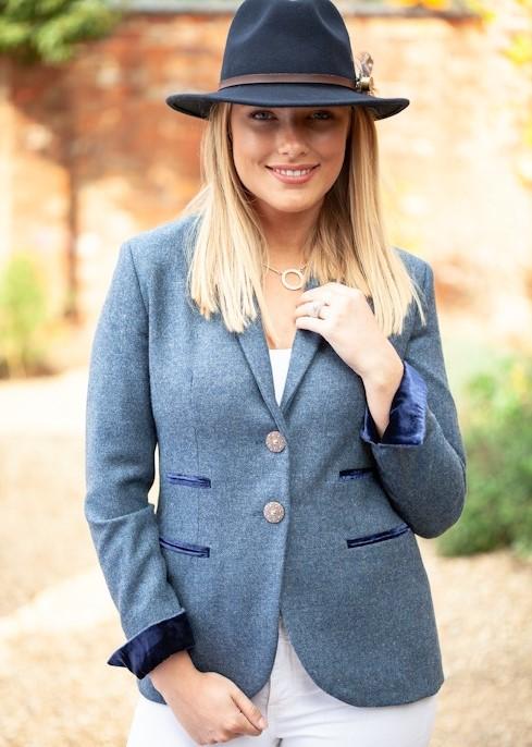 Tara Blue Riding Jacket Front Lifestyle (2)
