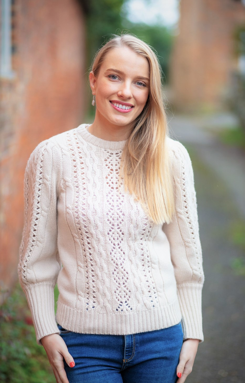 Beige Cable Knit 4
